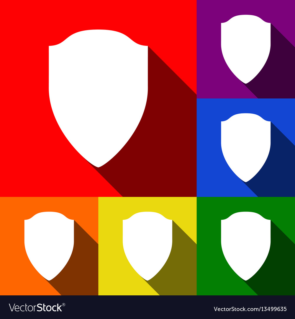Shield sign set of icons