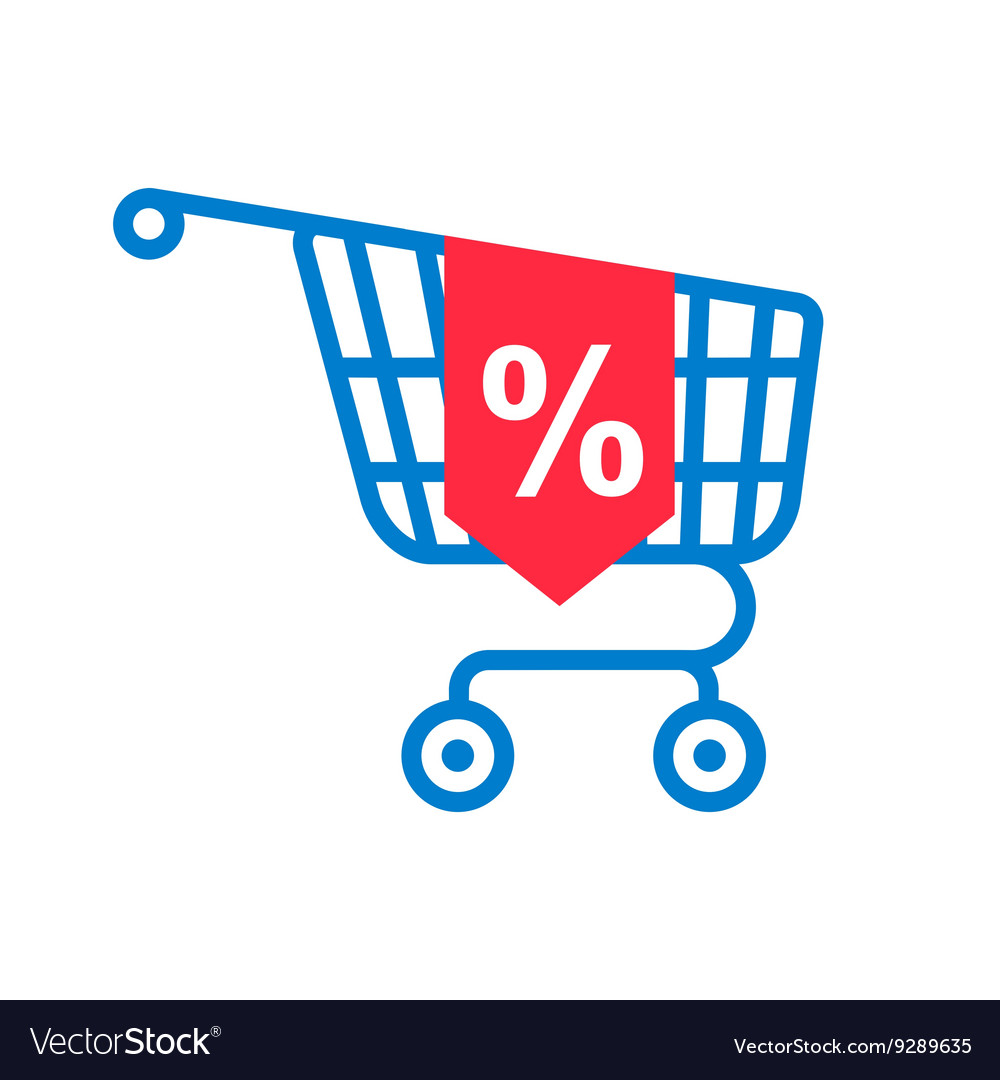 Shopping cart with percentage discount