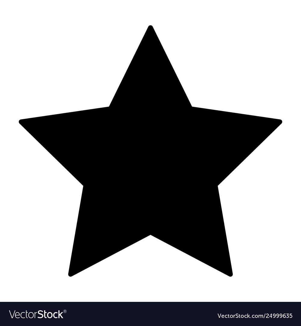 star solid icon pentagonal star royalty free vector image  vectorstock