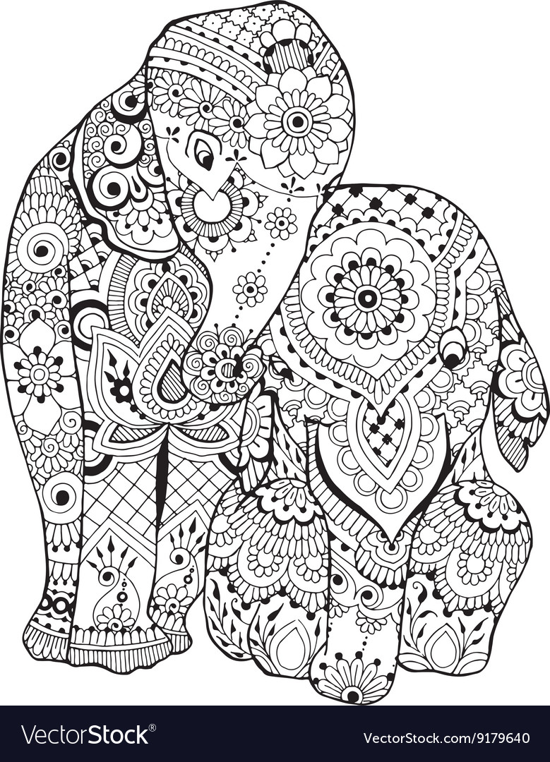 Elephant with ornament