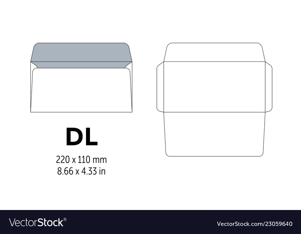Envelope dl template for a4 a5 paper with cut