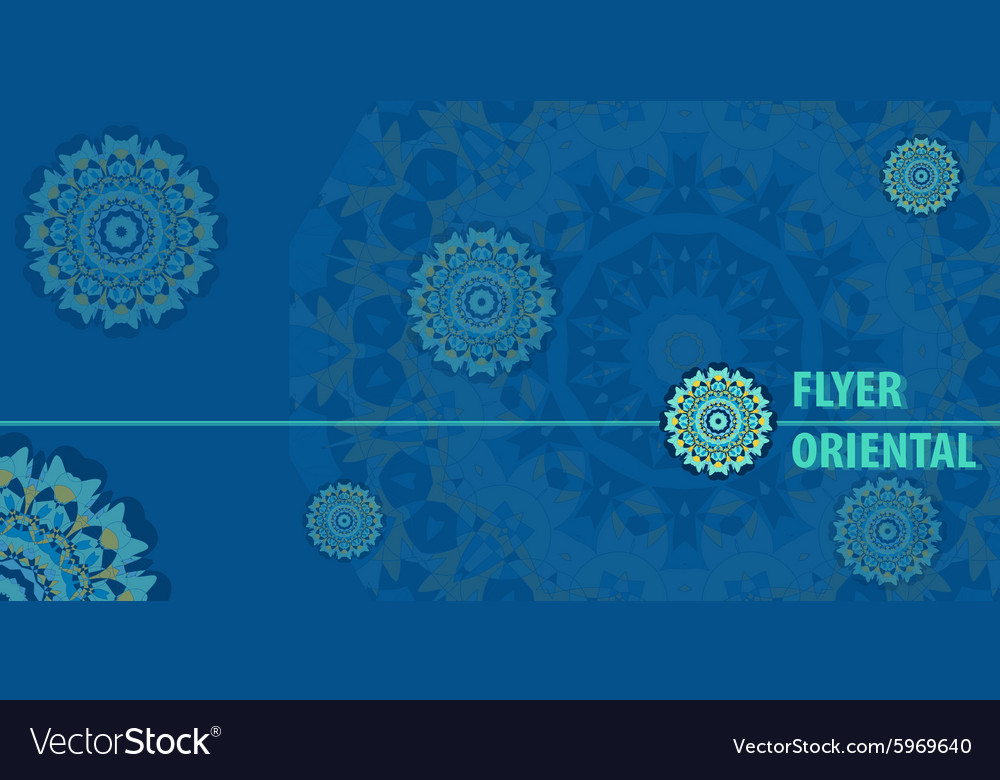 Flayer template design in blue color
