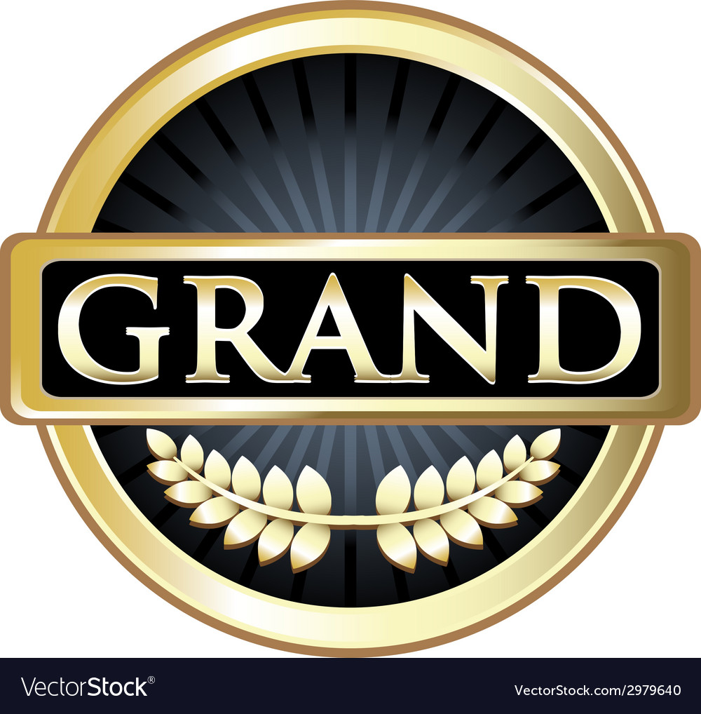 Grand Gold Label vector image