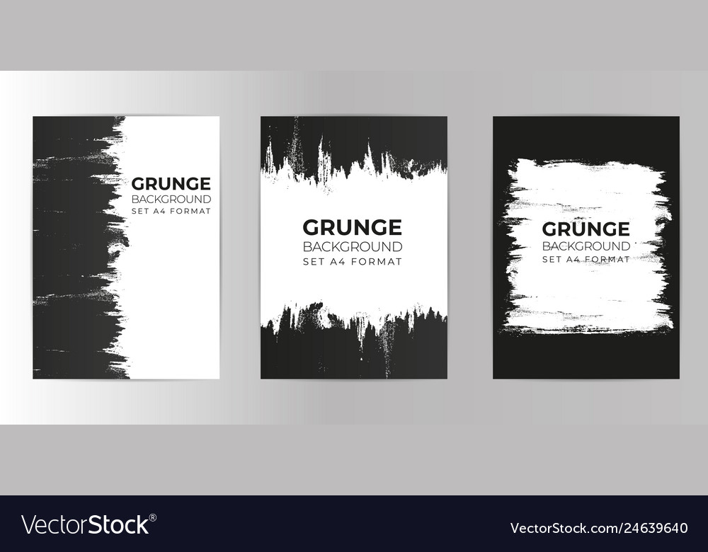 Grunge hand drawn background set a4 format