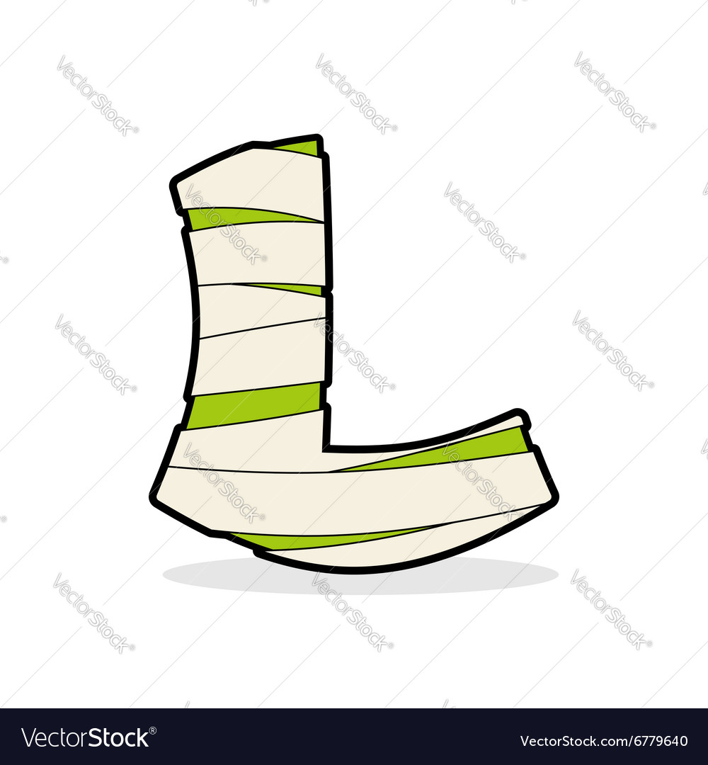 Letter L Egyptian Zombies Mummy Abc Icon Coiled Vector Image