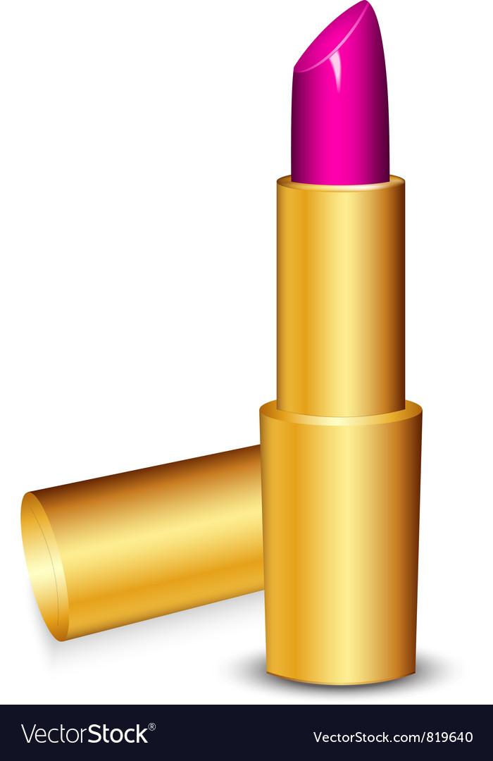 Lipstick pink vector image