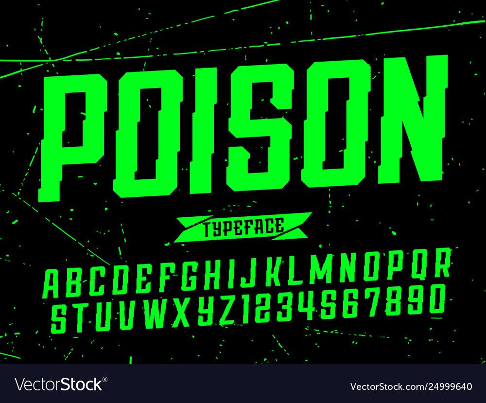 Modern professional alphabet poison custom