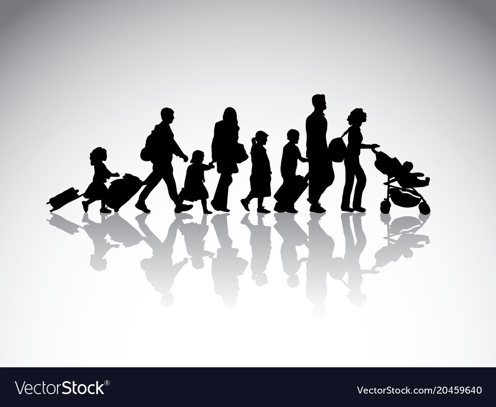People family travel silhouette symbol