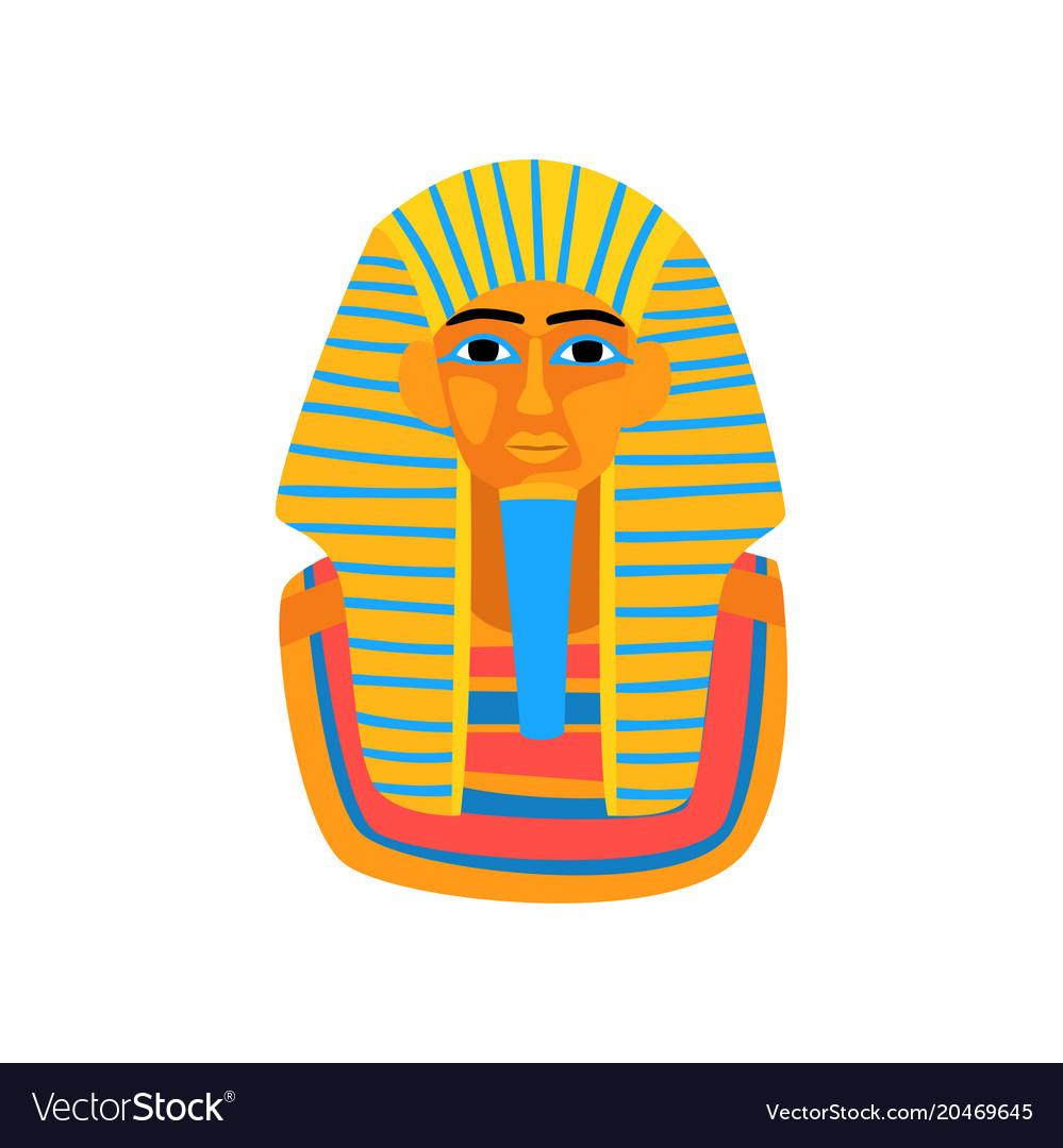 Cartoon of ancient egyptian pharaoh