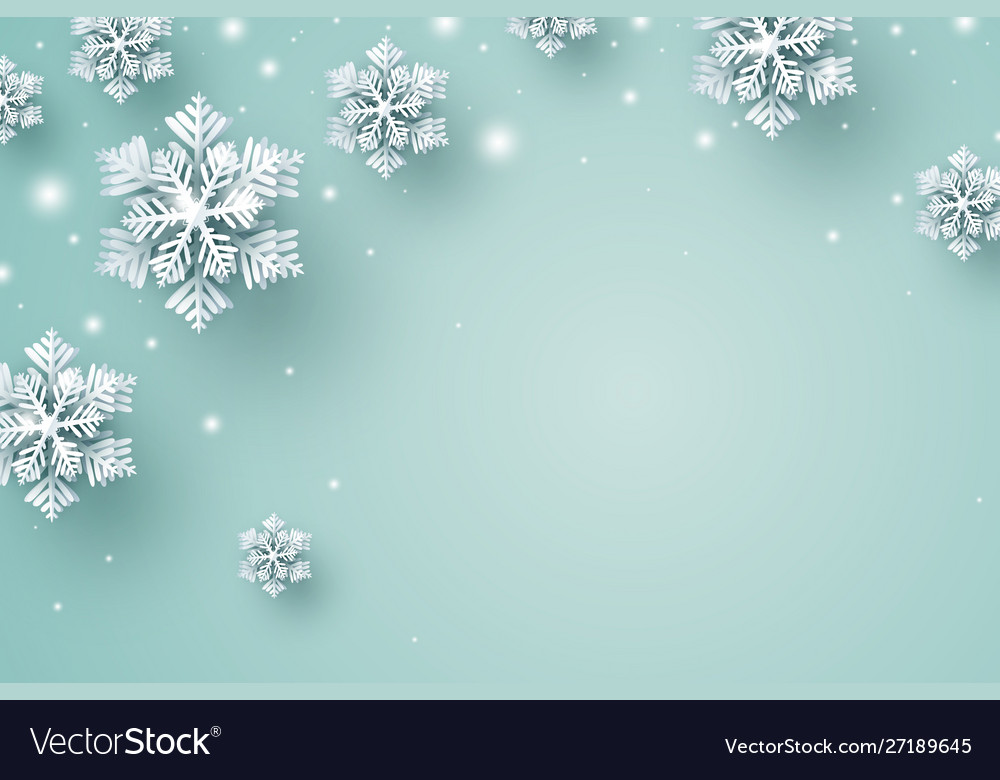 Christmas background design snowflake and snow