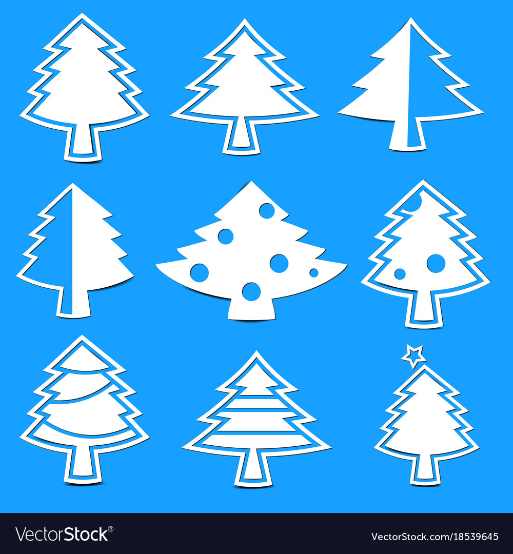 Christmas tree paper laser cutting