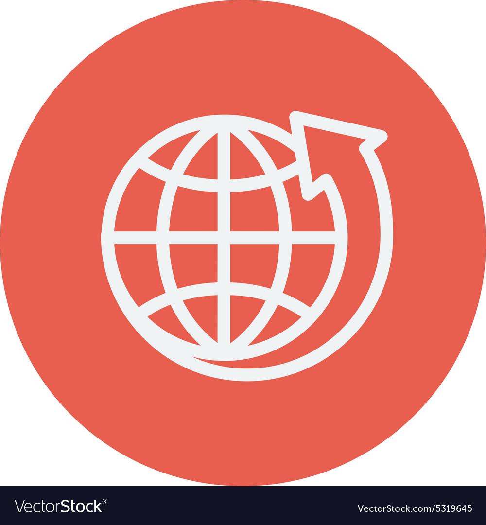 Earth design thin line icon