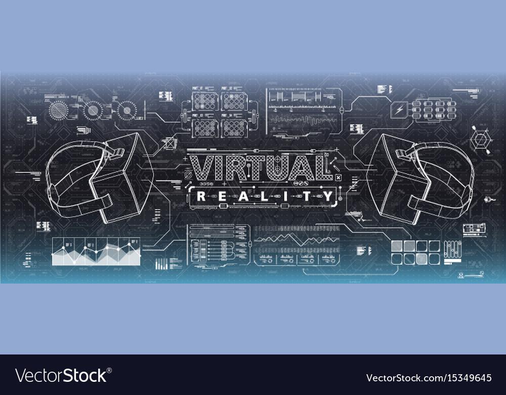 Hud ui for virtual reality glasses futuristic