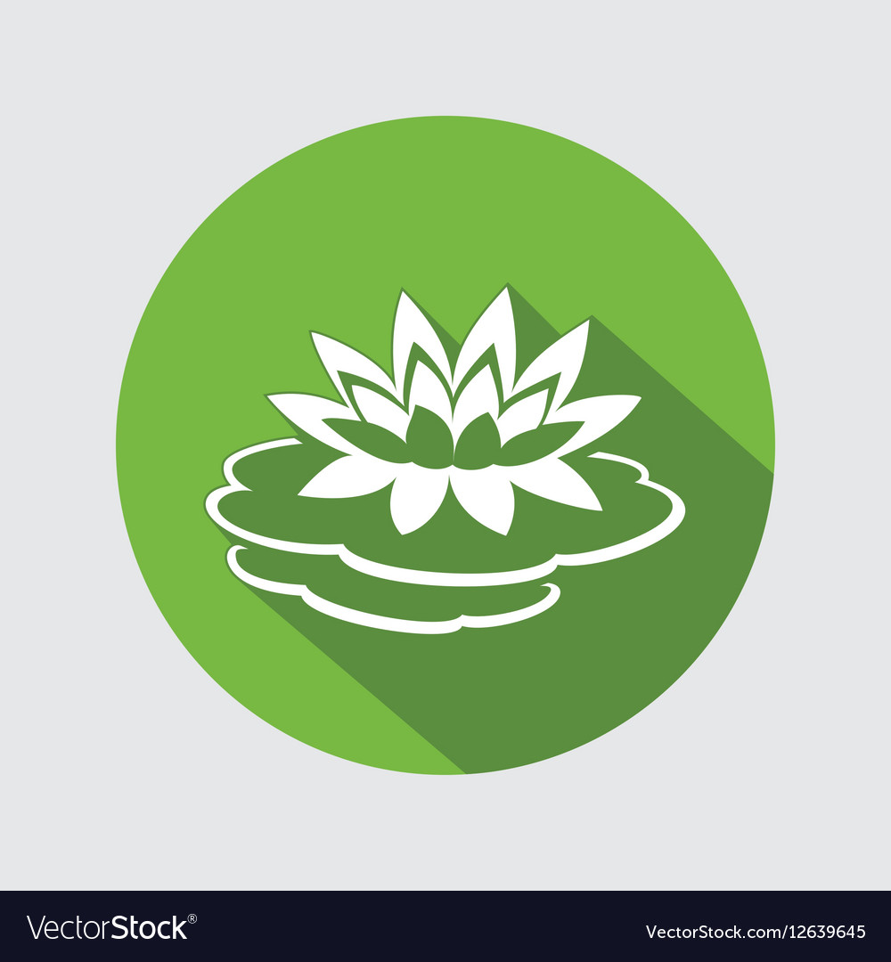 Lily lotus flower icon waterlily floral symbol vector image izmirmasajfo