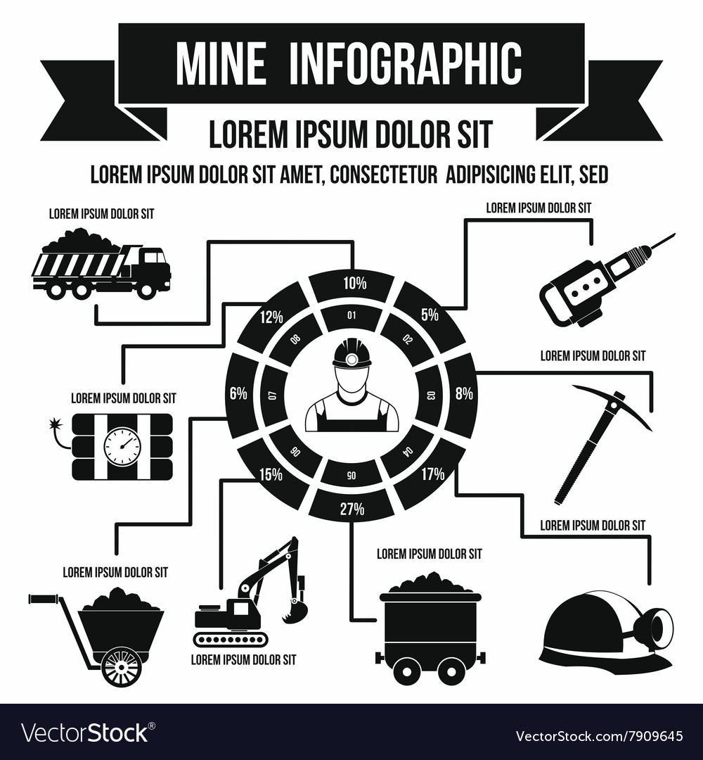 Mining infographic simple style