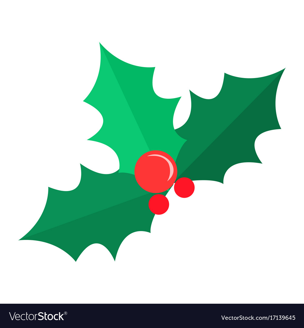 mistletoe christmas tree some red bubbles vector image - Mistletoe Christmas