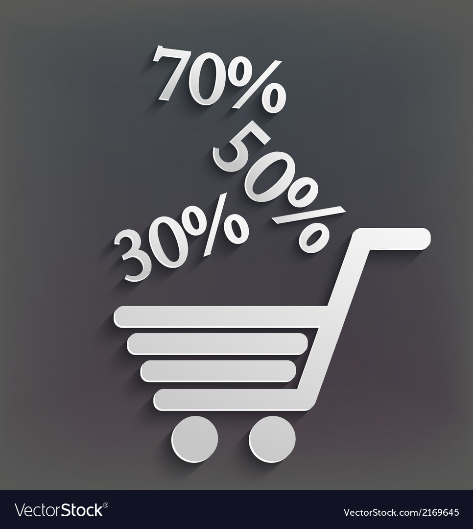 Modern shopping background with sales