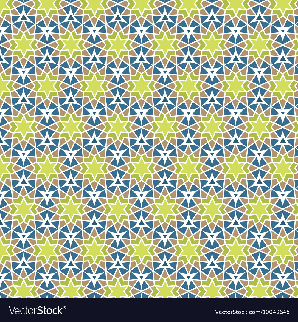 Mosaic circle background Yellow green blue