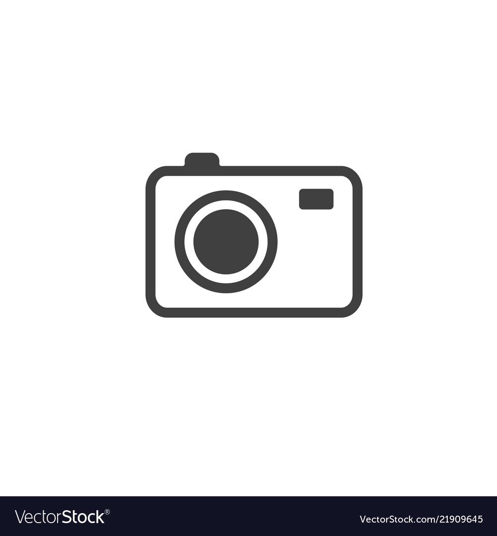 Photo camera icon isolated on white background