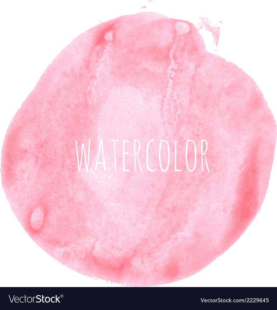 Pink watercolor blob