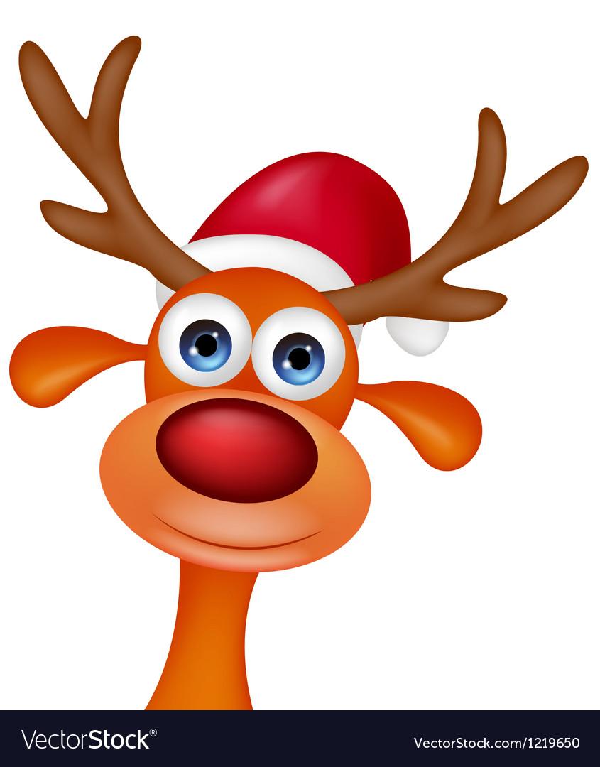 Cute Deer head cartoon vector image