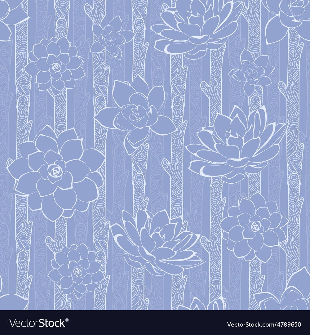 Pastel Purple Blooming Branches Seamless