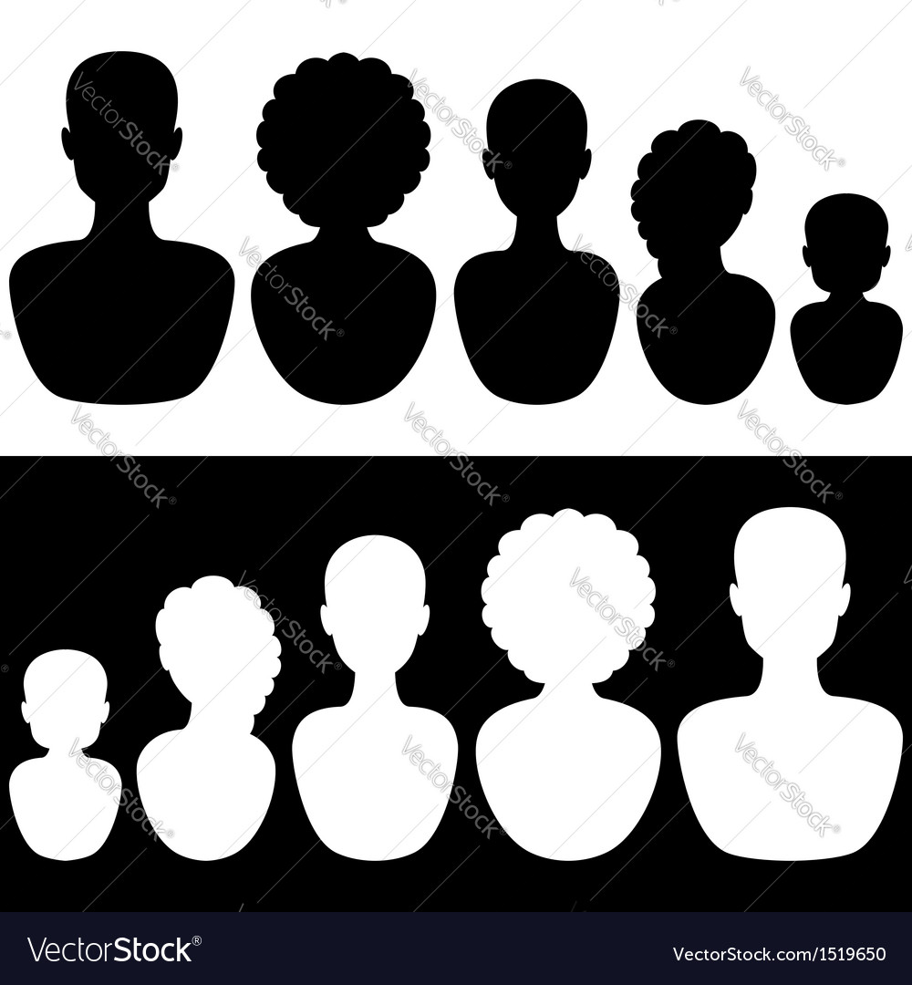 Silhouettes of a family vector image