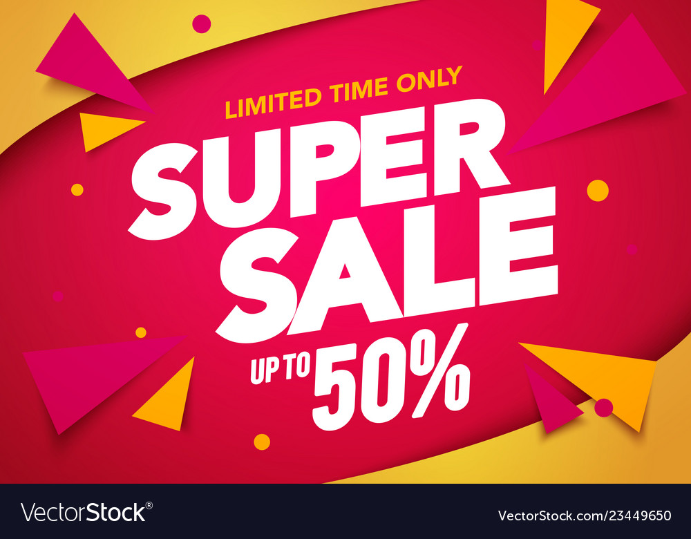 super sale banner template design royalty free vector image