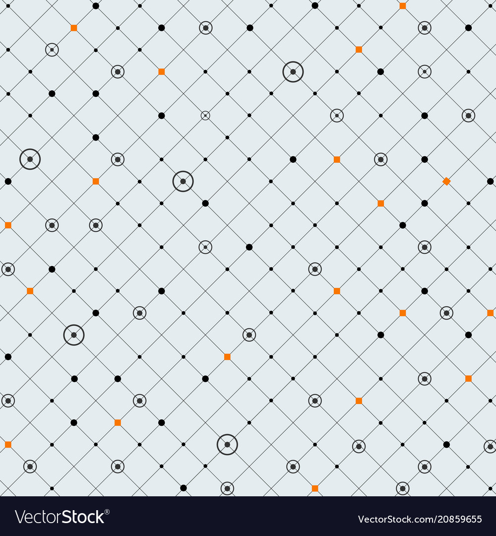 Abstraction of digital dot in circle and orange