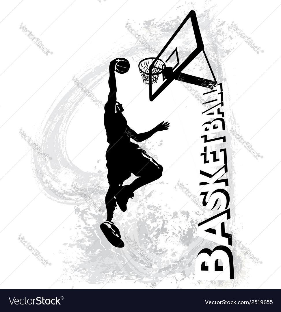 Basketball slam jam vector image