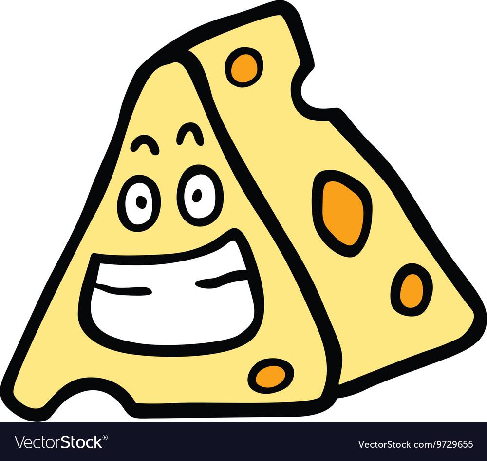 cheese smile royalty free vector image vectorstock
