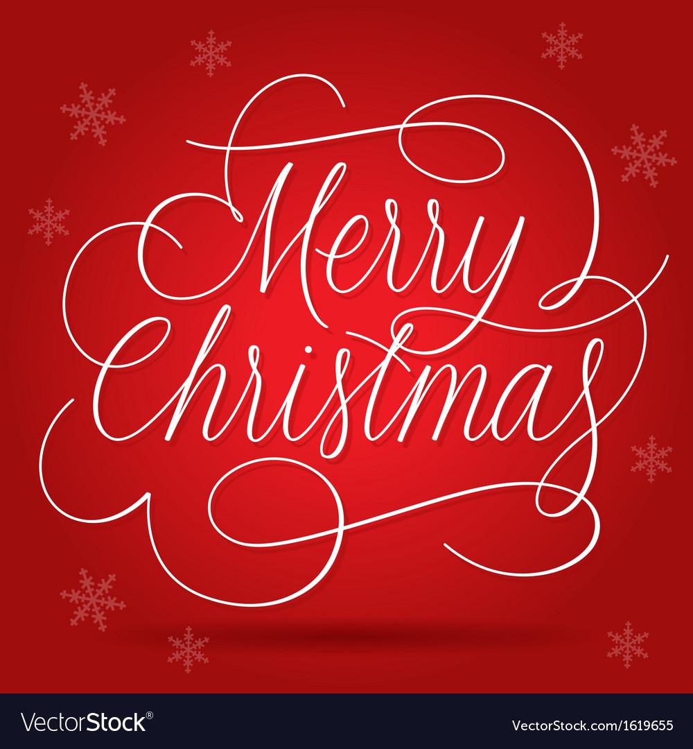 Merry Christmas Greetings Slogan Royalty Free Vector Image