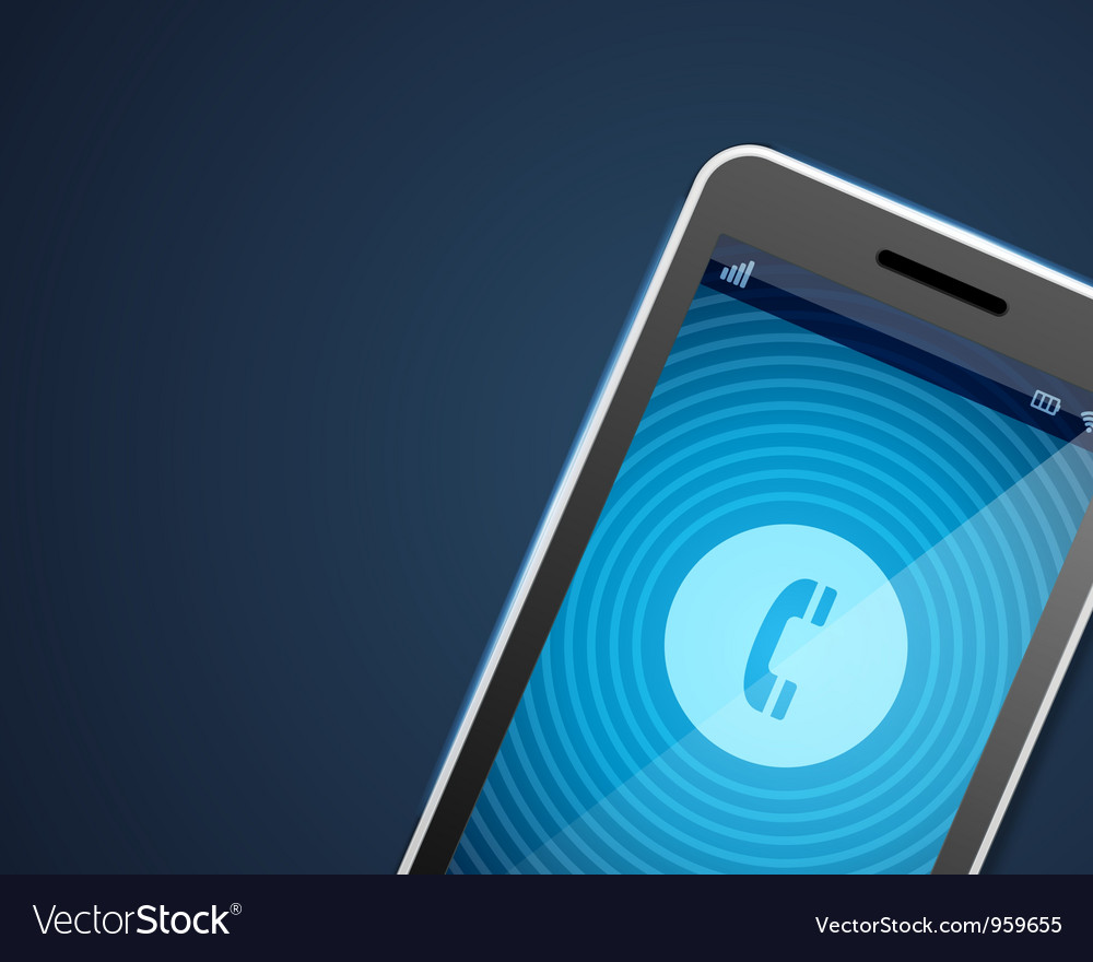 Mobile phone and incoming call icon