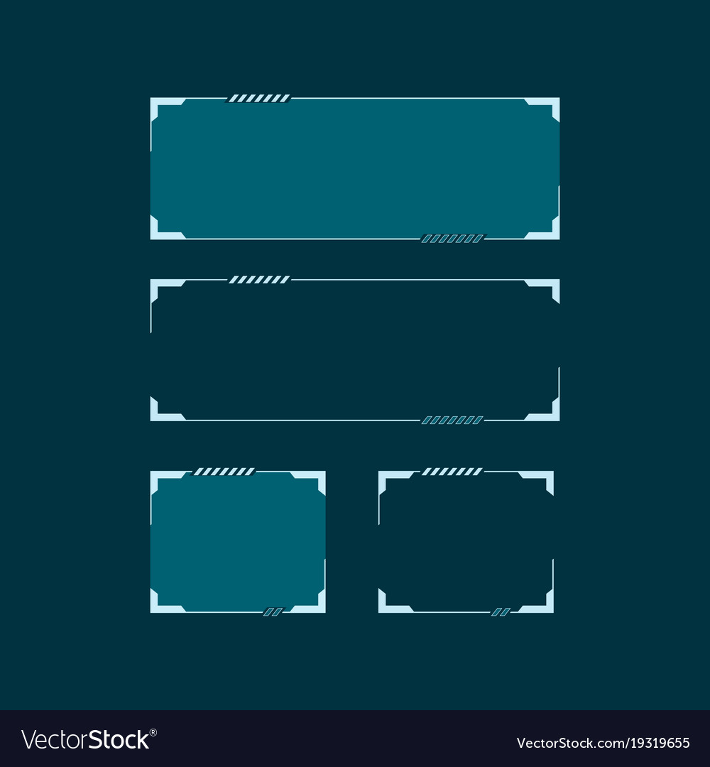 sci fi modern futuristic hud user interface vector image