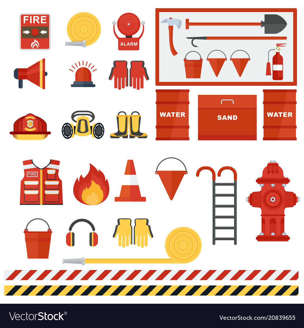 Set of fire equipmen