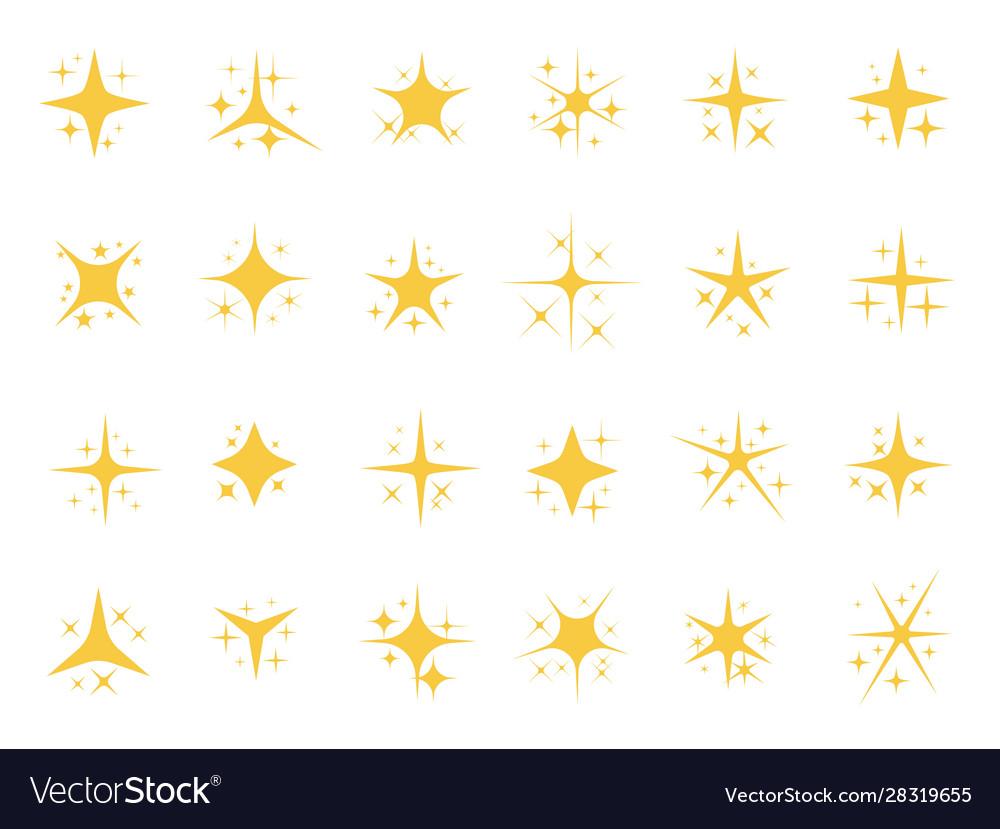 Sparkling stars shiny sparks glitter light star