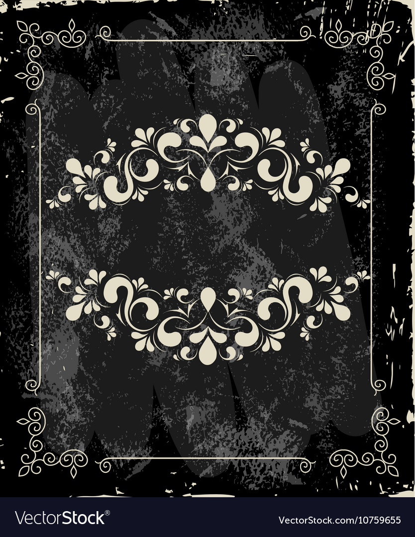 Template for cover with a menu on the vintage