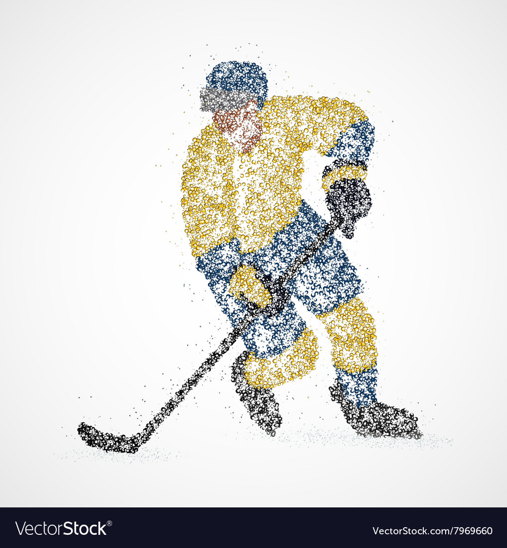 Abstraction hockey ice puck