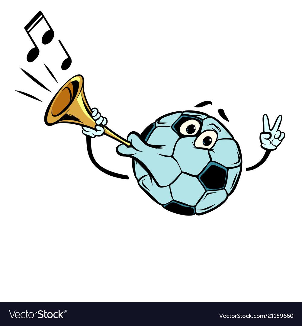 Fan horn loud sound character soccer ball