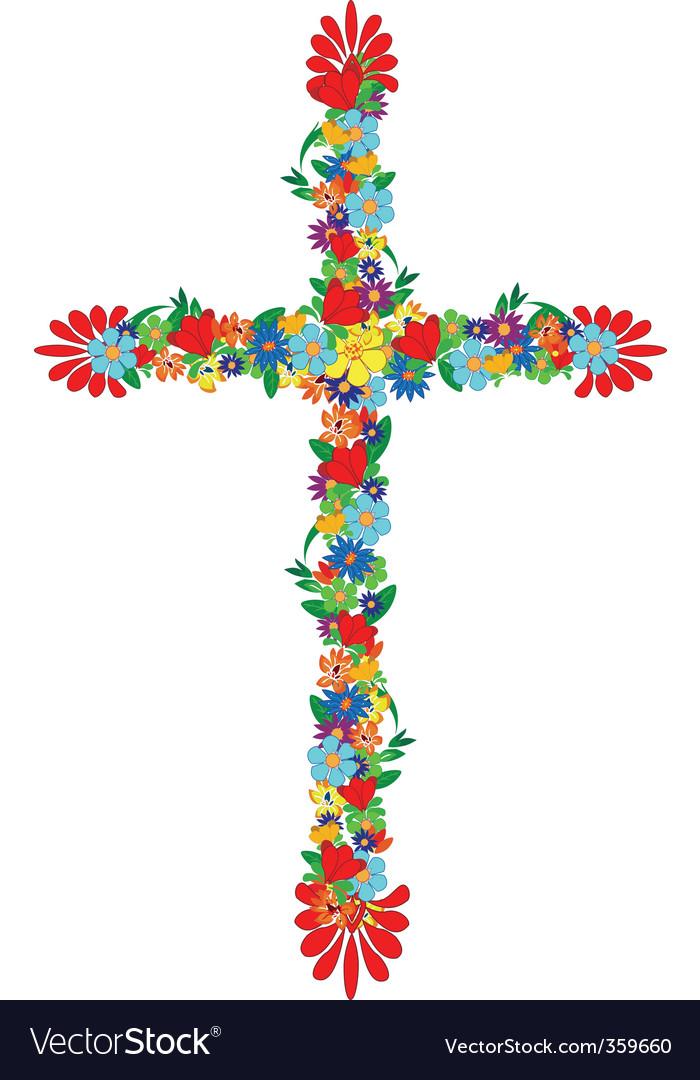 Flowers cross