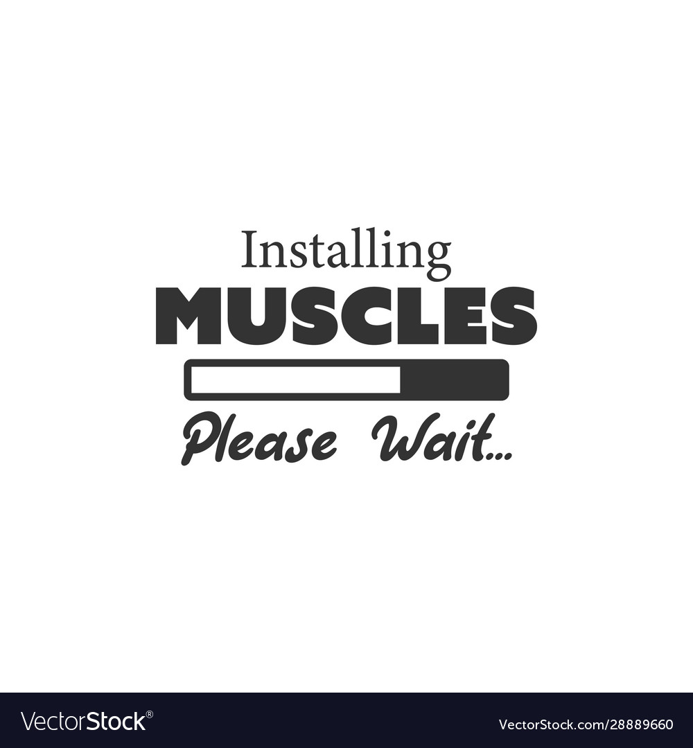 Gym Fitness Quote Lettering Typography Royalty Free Vector
