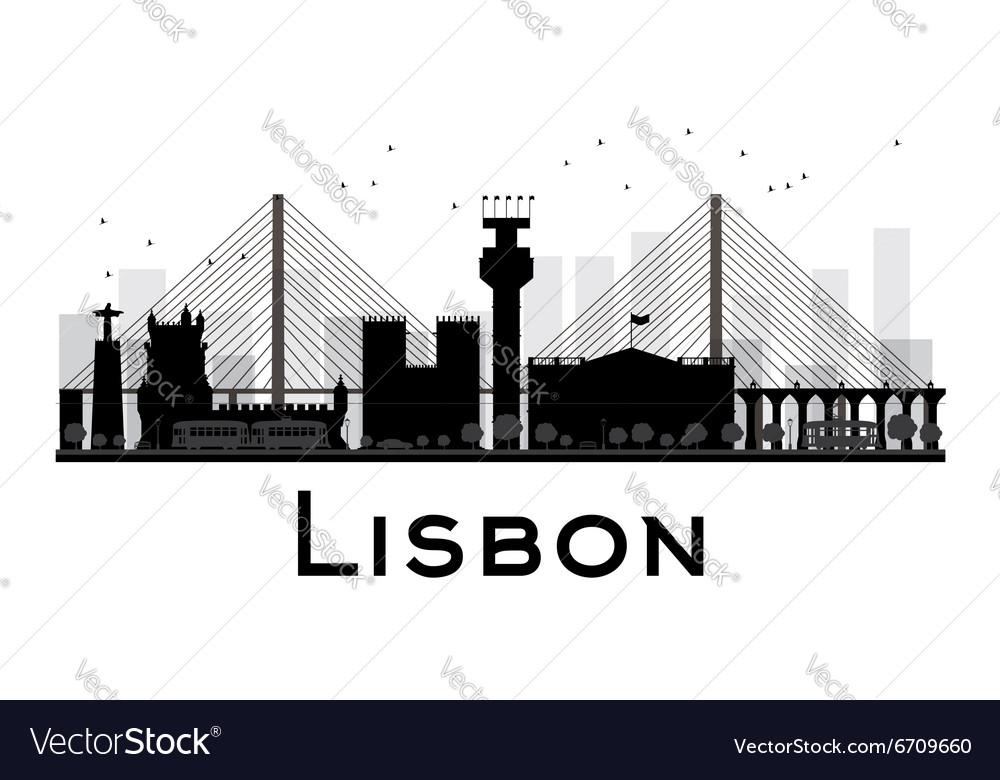 Lisbon silhouette
