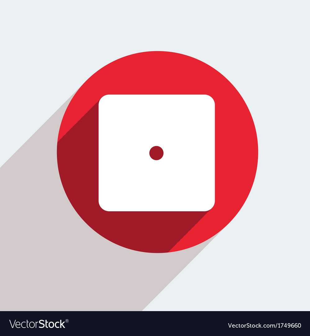 Red circle icon on gray background eps10