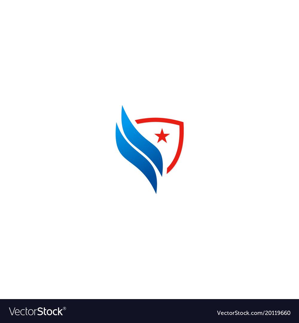 Shield shape star logo