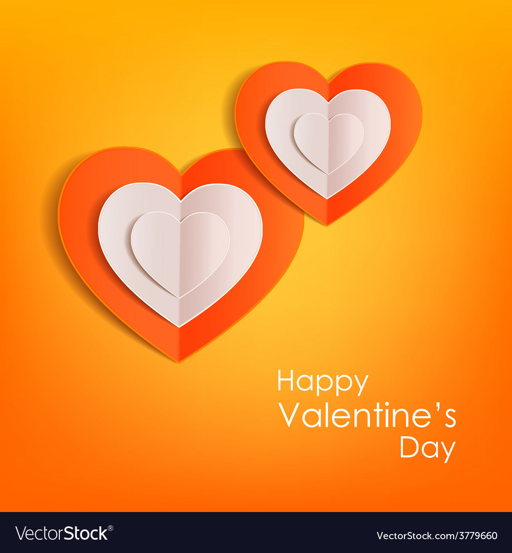 Valentines day typographical background with