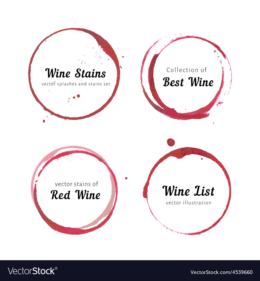 Wine stain circles vector image