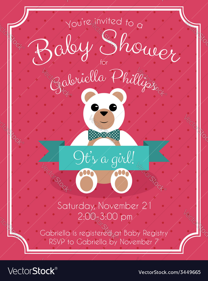 Baby Shower Invitation Royalty Free Vector Image