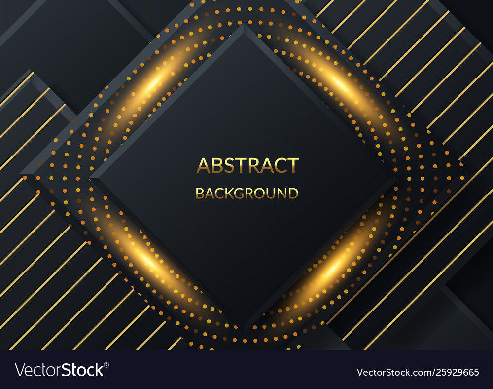 Black paper cut background abstract realistic