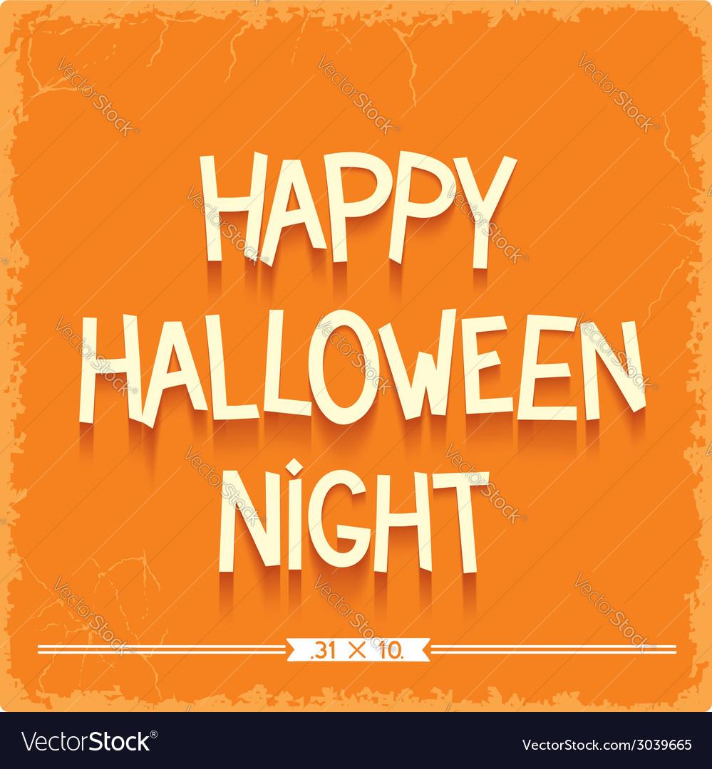 Happy Halloween Night poster