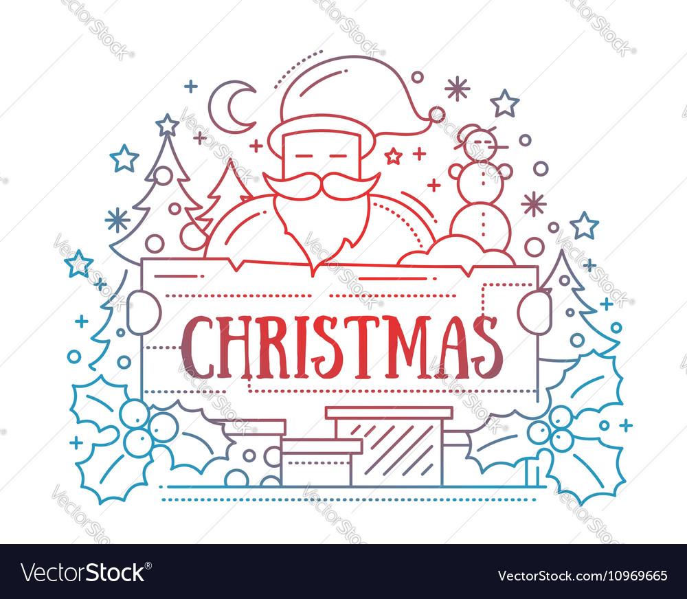 Merry Christmas - line design card